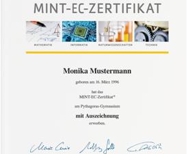 MINT-EC-Zertifikat